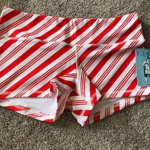 NWT Fleo Shorts Med Candy Cane Stripe Christmas